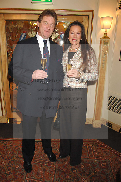 BERNARD THEOBALD and actress LORRAINE CHASE at a tribute lunch for Elaine Paige hosted by the Lady Taverners at The Dorchester, Park Lane, London on 13th November 2007.<br />