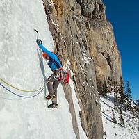 Ice Climbing Bourgeau Left