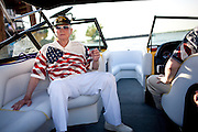 Barron Hilton, tours the Delta, July 4, 2010.