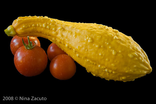 Squash and tomatoes - home grown food.