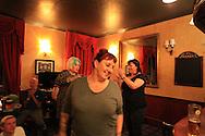 Lisa McKenzie at a Class War meeting in a London pub Class War