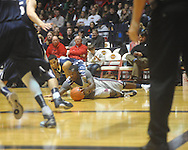 """Ole Miss guard Nick Williams (20) against Penn State guard Talor Battle (12) at the C.M. """"Tad"""" Smith Coliseum on Friday, November 26, 2010. Ole Miss won 84-71."""