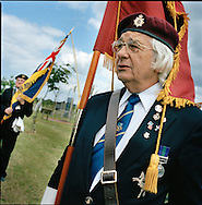 Suez Veterans meet at the 50th Anniversary of the withdrawal from the Suez Canal in 1956. The event was held at the National Memorial Arboretum near Lichfield, UK. Photo shows ex Paratrooper Don Axon..Photo©Steve Forrest /Workers Photos.