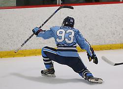 Marlborough, MA, USA - August 30, 2014: NJ Hitmen vs NH Avalanche Prep at the Tier 1 Hockey Tournament at the New England Sports Center.