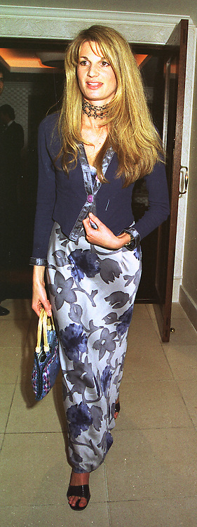 JEMIMA KHAN daughter of the late Sir James Goldsmith, at a film premier on 26th August 1998.MJL 140