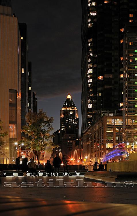Columbus Circle an night.