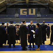 Law students gather in the gymnasium of The Martin Centre before the School of Law Commencement.