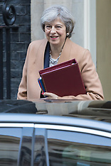 Prime Minister Theresa May leaves Downing Street for Prime Minister's Questions