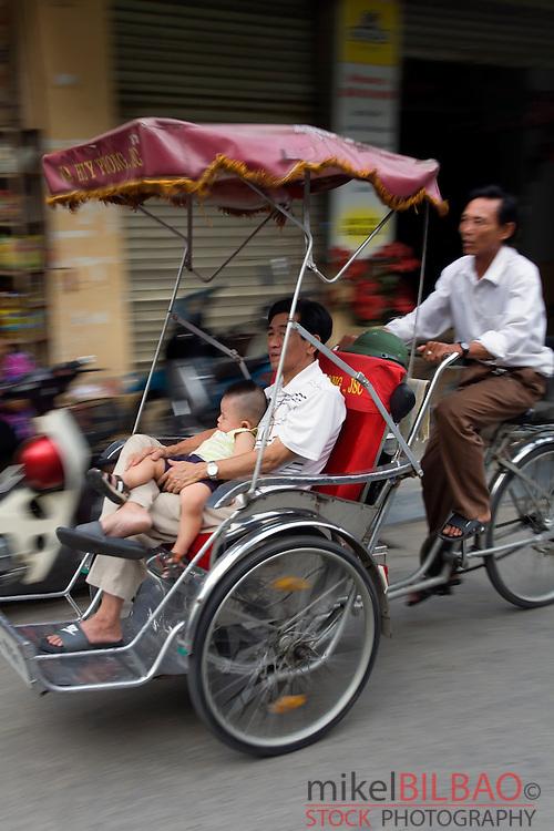 traditional transport.<br /> Hanoi, Vietnam.