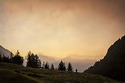 Italian Alps a sunrise.