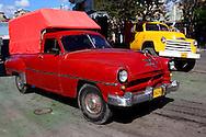 Trucks in Santiago de Cuba, Cuba.