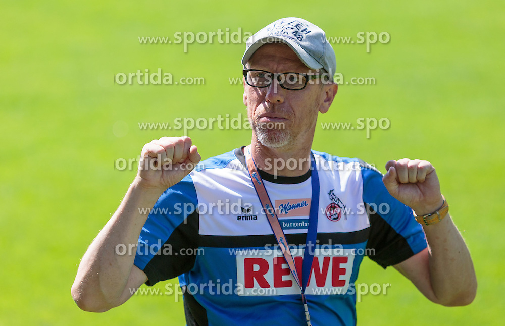 20.07.2015, Stadion Langau, Kitzbuehel, AUT, 1. FC Koeln, Trainingslager, im Bild Peter Stoeger (1. FC Koeln) // during the Trainingscamp of German Bundesliga Club 1. FC Colgone at the Stadium Langau in Kitzbuehel, Austria on 2015/07/20. EXPA Pictures © 2015, PhotoCredit: EXPA/ JFK