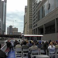 USA, Illinois, Chicago. Chicago River Cruise.