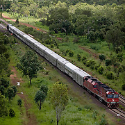 The Ghan.  The Ghan train near Katherine, Northern Territory, Australia. Image © Arsineh Houspian/Falcon Photo Agency.
