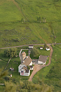 aerial summer view of McPolin Barn and Farm in Park City, Utah USA