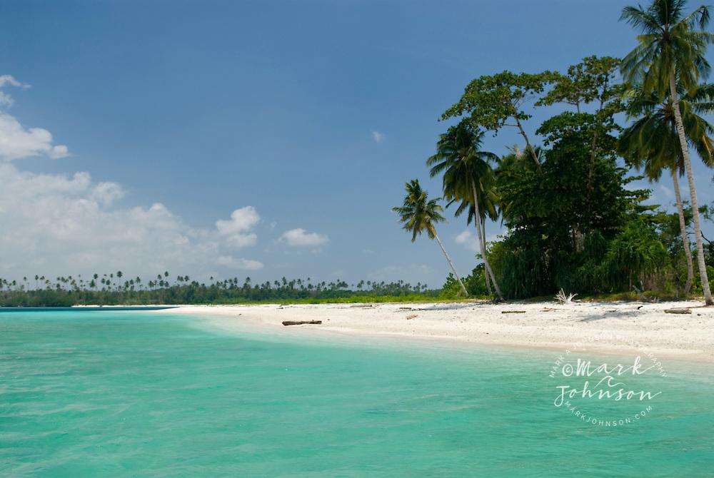 Beautiful beach on a tropical island in the Mentawai Islands, Indonesia