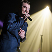 """WASHINGTON, DC - September 16th, 2014 - Sam Smith performs at Echostage in Washington, D.C. Smith gained notoriety in 2012 when he appeared on UK electronic act Disclosure's breakthrough single """"Latch."""" His subsequent debut album, In The Lonely Hour, reached number two in the Billboard 200 album chart. (Photo by Kyle Gustafson / For The Washington Post)"""
