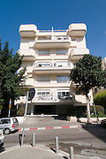 Israel, Tel Aviv, Renovated Bauhaus building at 35 Balfour Street UNESCO has declared Tel Aviv an international heritage site because of the abundance of the Bauhaus architectural style