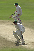 Photo Peter Spurrier.01/09/2002.Village Cricket Final - Lords.Elvaston C.C. vs Shipton-Under-Wychwood C.C..Running between wicket's Shane Duff (nearest) and Phil Garner.