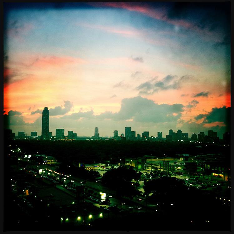 Sunset on the city - Houston, Texas