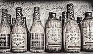 Wine bottles on the shelf