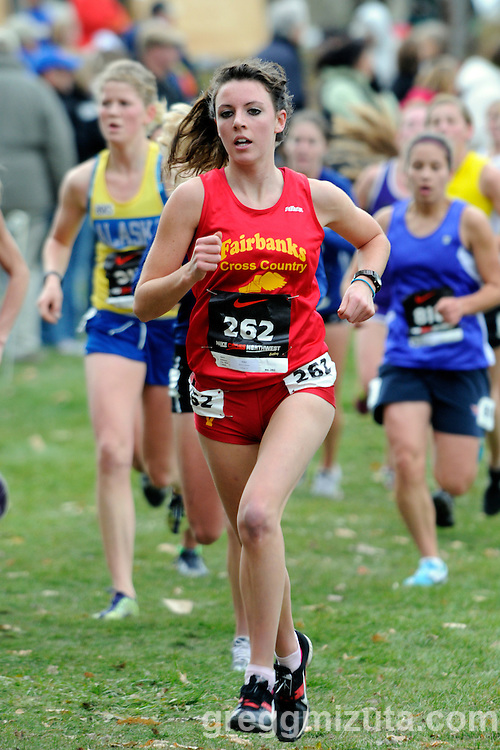 Molly Callahan, representing Fairbanks XC, during the Nike Cross Northwest Regional XC Championships at Eagle Island State Park on November 13, 2010. Callahan finished in 19:36.4 placing fortyfifth.