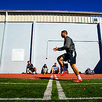2/18/13 10:42:20 AM -- Bradenton, FL, U.S.A. -- NFL prospect and Notre Dame linebacker Manti Te'o works out at IMG Academy in Bradenton, Fla., in preparation for this year's NFL Combine.  -- ...Photo by Chip J Litherland, Freelance