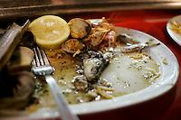 20110902 - Barcelona, Spain - Lunch counter at Market la Boqueria in Barcelona, Spain..(Matthew Healey)