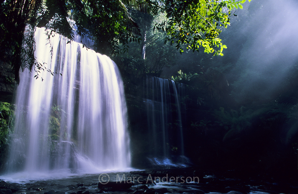 Russell Falls, a beautful rainforest waterfall in Mt Field National Park, Tasmania