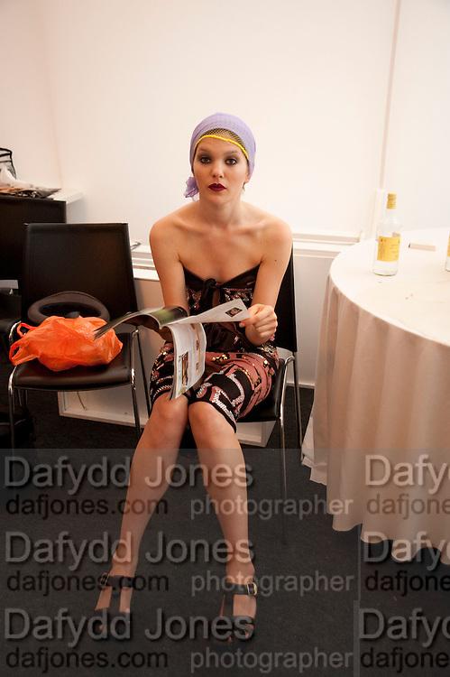 MARGO BUSHUEVA, Fashion shows in the Besborough Restaurant during Ascot week. Ascot. Tuesday 16 June 2009.