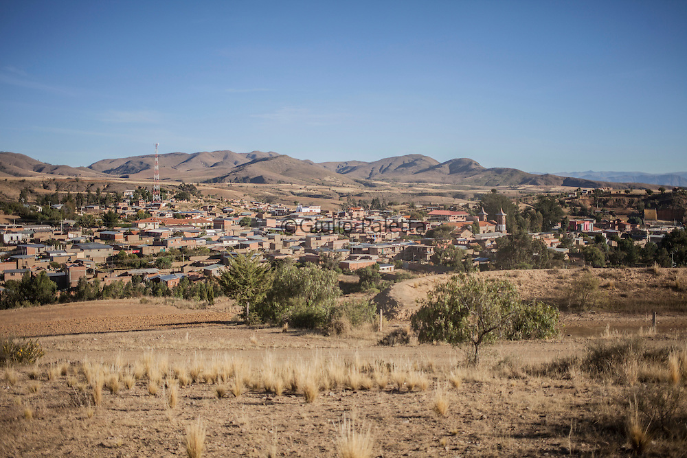 Panoramic view of Anzaldo, in the Bolivian Andes