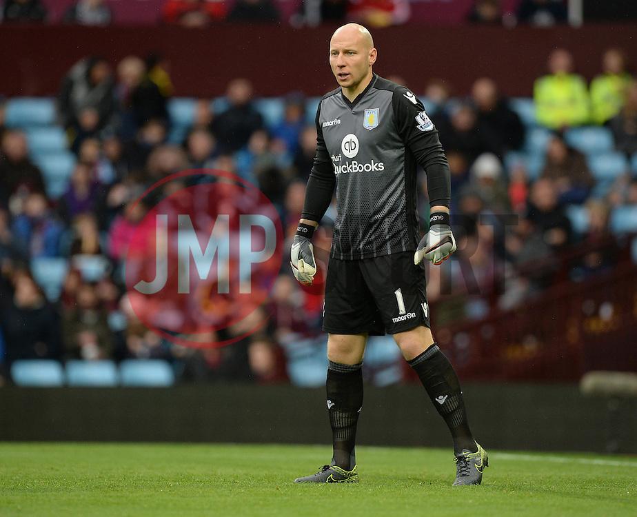 Brad Guzan of Aston Villa - Mandatory byline: Alex James/JMP - 07966 386802 - 24/10/2015 - FOOTBALL - Villa Park - Birmingham, England - Aston Villa v Swansea City - Barclays Premier League