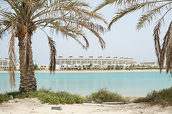 New waterfront apartment buildings at new Amwaj Island residential property development in Kingdom of Bahrain