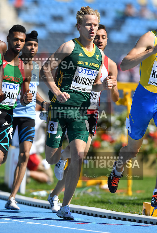 BYDGOSZCZ, POLAND - JULY 22: George Kusche of South Africa in the heats of the mens 800m during day 4 of the IAAF World Junior Championships at Zawisza Stadium on July 22, 2016 in Bydgoszcz, Poland. (Photo by Roger Sedres/Gallo Images)