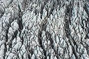 Aerial view of the Breidamerkurjokull Glacier, July, 2014.