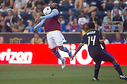 Darren Bent of Aston Villa during a match between Aston Villa FC and Philadelphia Union at PPL Park in Chester, Pennsylvania, USA on Wednesday July 18, 2012. (photo - Mat Boyle)