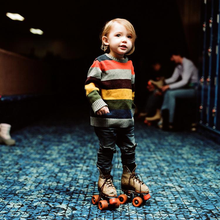 ANCHORAGE, AK - 2014: Skate Land.