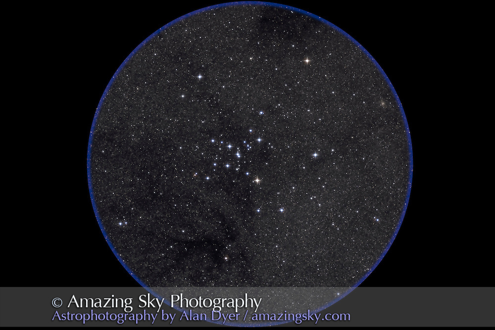 M7 Ptolemy's Cluster, with 4-inch Astro-Physics Traveler apo refractor at f/6 and Canon 20Da at ISO800 for stack of two 4-minute exposures. Taken from Queensland, Australia, July 30, 2006.