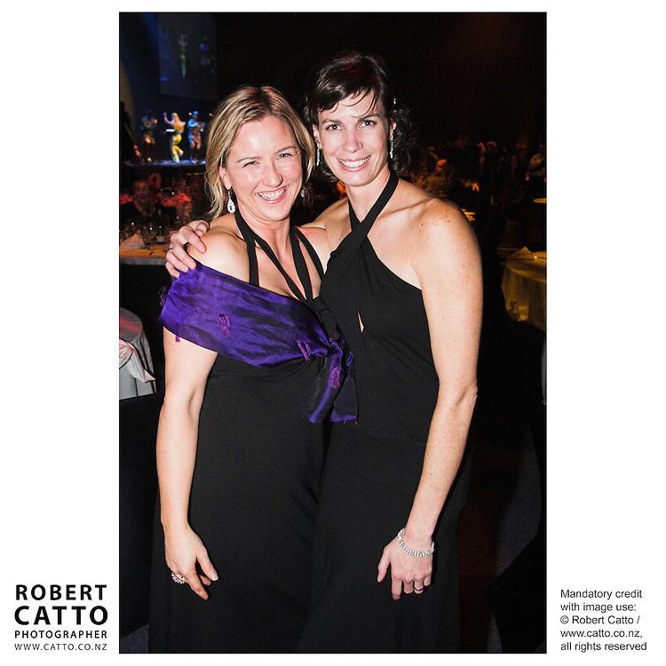 Delia Shanly;Bronwen Thomson at the Wellington Region Gold Awards 07 at TSB Arena, Wellington, New Zealand.