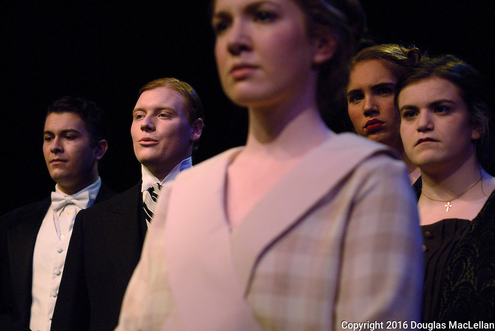"""""""Queen Milli of Galt"""" by Graham Kirkham. Directed by Marc Bondy. A University Players production, University of Windsor. Essex Hall Theatre."""