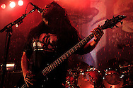 Tom Araya of the band Slayer performs at the Roseland Ballroom November 11, 2004 in New York City. .Phot by Keith Bedford