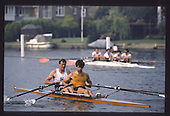 1990 GBRowing Training on Henley Reach. UK