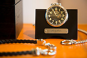 DETROIT, MI - OCTOBER, 30: This limited edition Henry Ford Pocket Watch is on sale at the Shinola store in Detroit, Michigan, Thursday, October 30, 2014. Only 1000 were made. (Photo by Jeffrey Sauger)