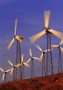 Image of wind turbines in San Gorgonio Pass near Palm Springs, California