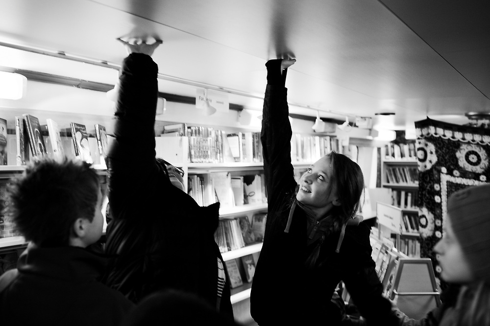 The library doesn´t have the highest ceiling..Photo by Knut Egil Wang /MOMENT