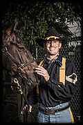 Jason Bishop and Pepper<br /> <br /> 1st Cavalry Division Horse Cavalry Detachment photos by Stacy L. Pearsall