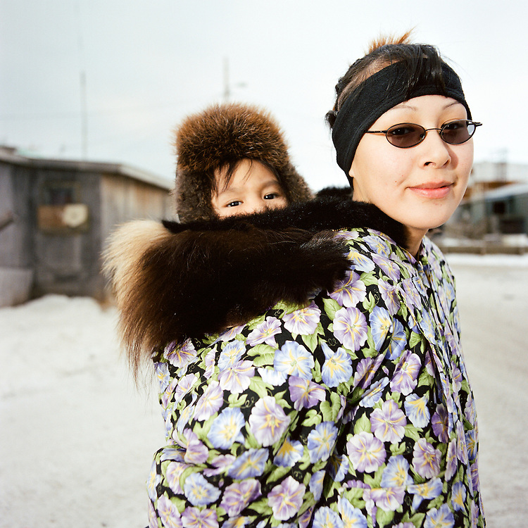 KIVALINA, ALASKA - 2007: Lucy Swan and Jennifer.
