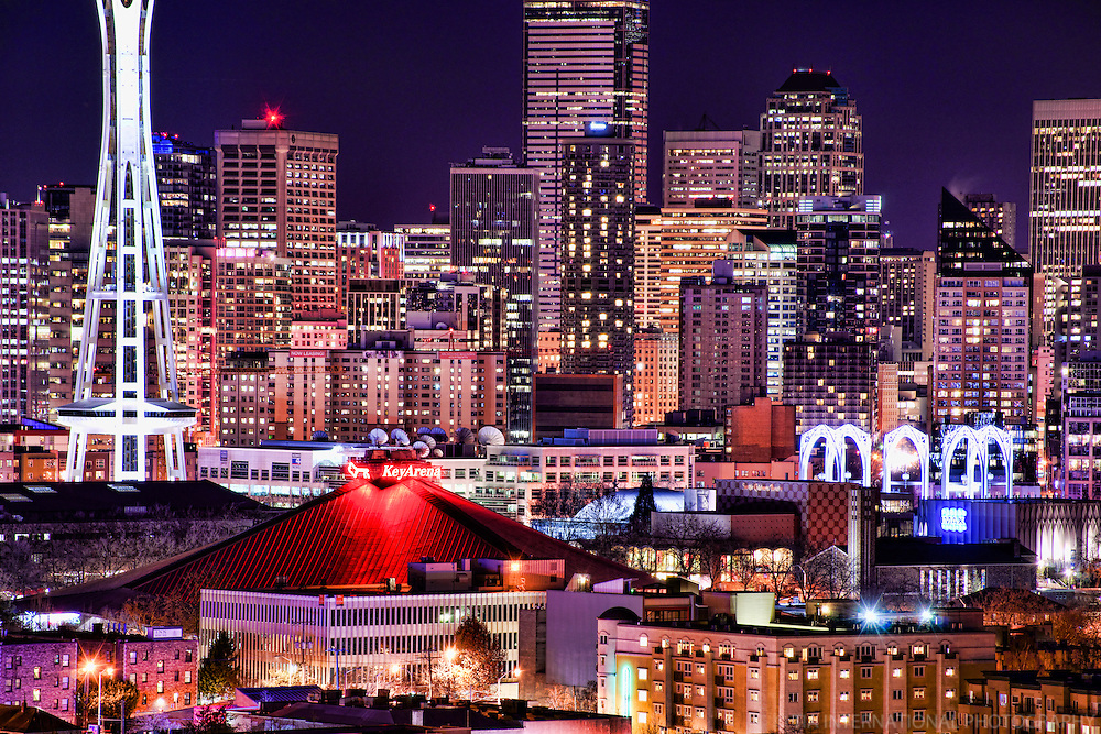 Seattle Center & Downtown @ Twilight