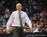 Ole Miss coach Andy Kennedy vs South Carolina on Wednesday, January 20, 2010 in Oxford, Miss.