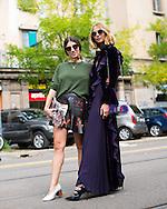 Alessandra Airo and Candela Novembre at Fendi SS2017